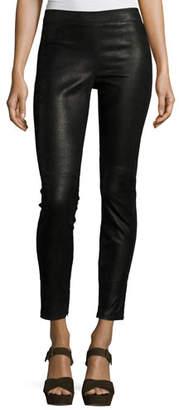 Elie Tahari Roxanna Skinny Leather Pants, Black