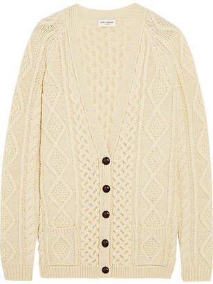 Oversized Chunky-knit Wool Cardigan - Ivory