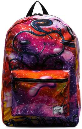Herschel multicolour Snoopy galaxy print backpack