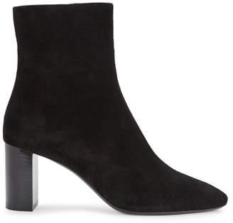 Saint Laurent Lou Black Suede Ankle Boots