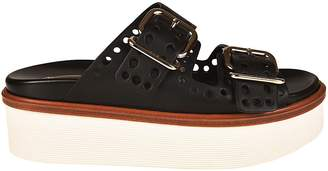 Tod's Perforated Flat Sandals