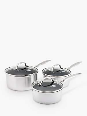 Green Pan Elements Non-Stick Lidded Saucepan Set, 3 Piece