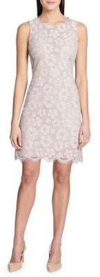 Tommy Hilfiger Lotus Flower Lace Sleeveless A-Line Dress