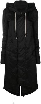 Rick Owens long length parka coat