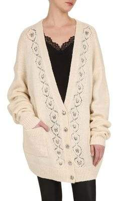 The Kooples Ajoure Button-Front Cardigan