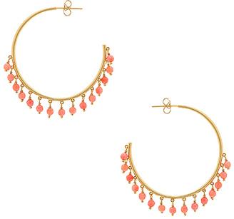 gorjana Sol Gemstone Hoop Earrings in Metallic Gold. $70 thestylecure.com