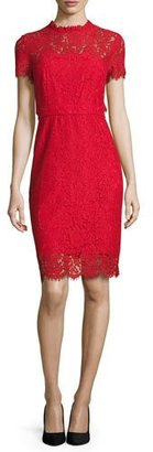 Diane von Furstenberg Alma Lace Sheath Dress $468 thestylecure.com