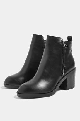 Topshop Womens Brittney Ankle Boots - Black