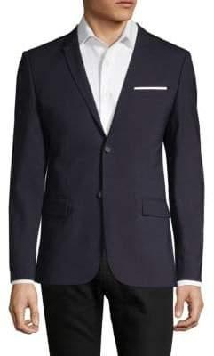 The Kooples Notch Lapel Wool Suit Jacket
