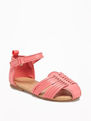 Faux-Leather Huaraches for Toddler Girls $19.94 thestylecure.com
