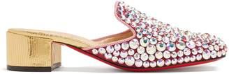 Christian Louboutin Eltonetta 35 crystal-embellished suede mules