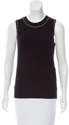 Norma Kamali Embellished Sleeveless Top