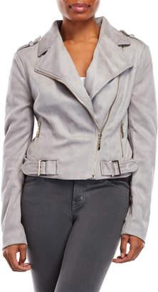 Romeo & Juliet Couture Romeo + Juliet Couture Faux Suede Moto Jacket
