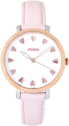 Fossil ES4351 Rose Gold-Tone Watch & Bracelet Set