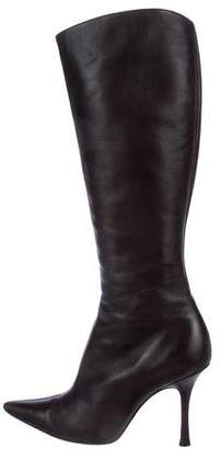 Christian Lacroix Pointed Knee-High Boots