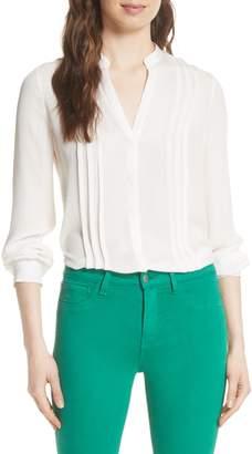 L'Agence Amalea Pintuck Silk Blouse