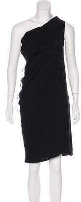 Lanvin One-Shoulder Midi Dress