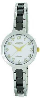 Aureole [オレオール 3針 日常生活防水 ステンレスケース セラミックバンド(一部ステンレス) クリスタルガラス プッシュバックル レディス(女性向け) 腕時計 SW-599L-04