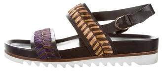 Salvatore Ferragamo Leather Buckle Strap Sandals
