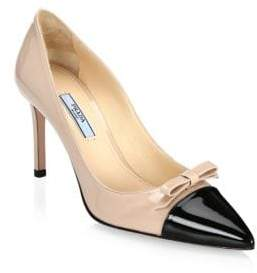 Prada Patent Leather Cap-Toe Pumps