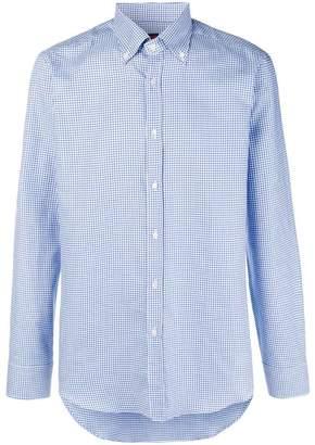 Piombo Mp Massimo micro check shirt