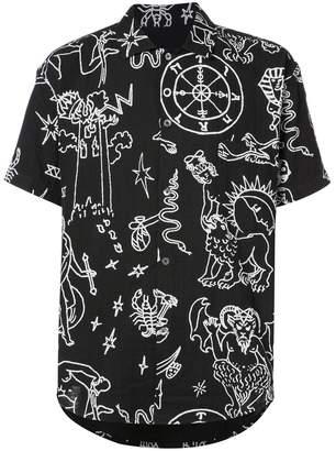 The Elder Statesman Tati Compton printed button-down shirt