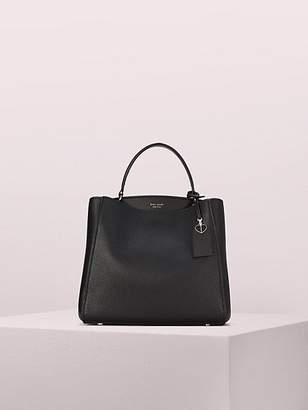 Kate Spade Fleur Medium Top Handle Satchel, Black