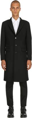 Neil Barrett Single Breasted Compact Wool Coat