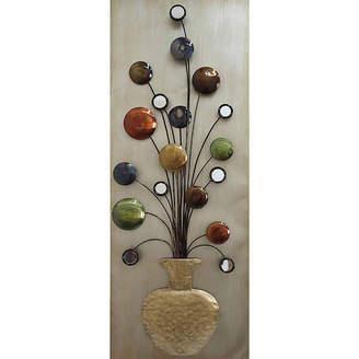 Asstd National Brand Flower Vase II Metal Wall Dcor