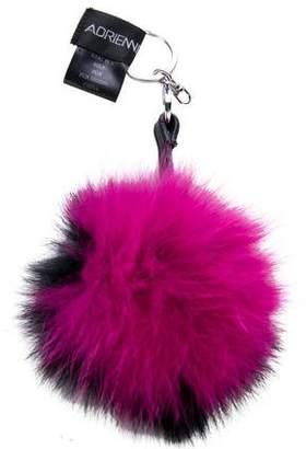 Adrienne Landau Fur Pom-Pom Keychain w/ Tags