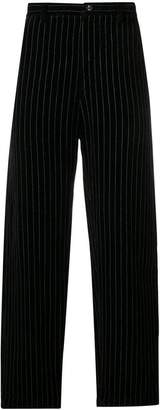 Ziggy Chen pinstripe straight leg trousers