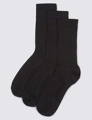 Marks and Spencer 3 Pack of Gentle Grip Lambswool Blend Socks