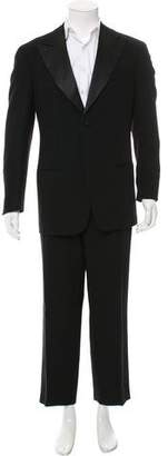 Giorgio Armani Satin-Trimmed Wool Tuxedo