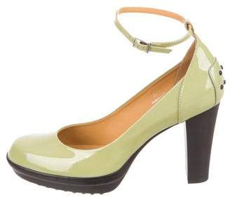 Tod's Round-Toe Ankle Strap Pumps