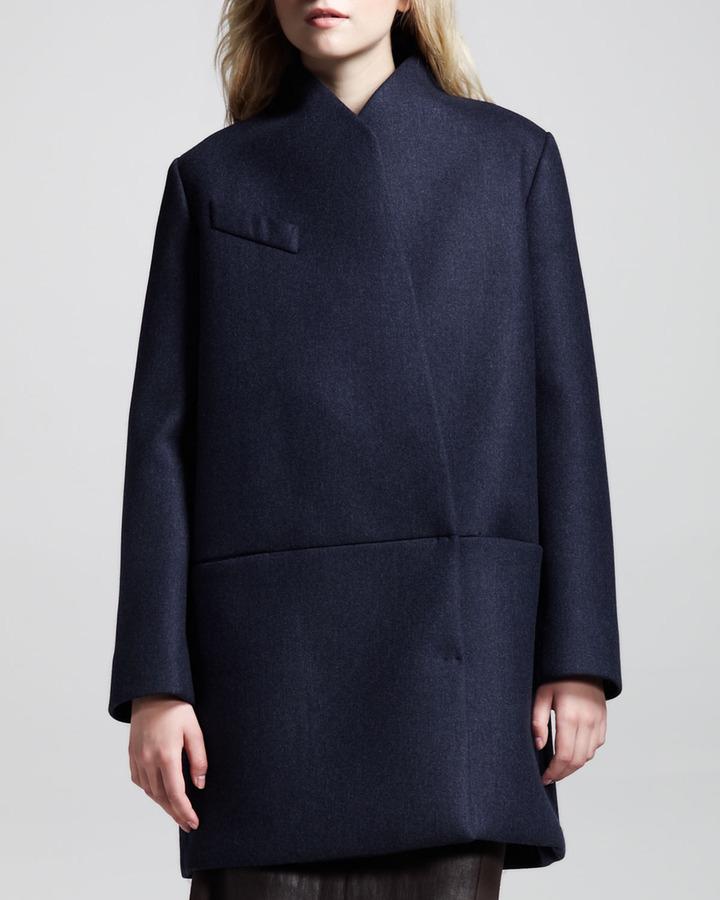 Brunello Cucinelli Boxy Coated Inside-Out Coat