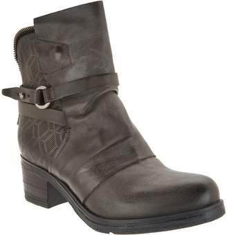 Miz Mooz Leather Buckle Mid Boots - Salma