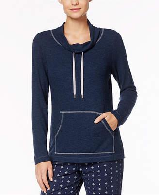 Nautica Contrast-Trim Cowl-Neckline Pajama Top