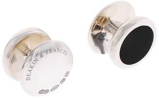 Deakin & Francis Oval Onyx Dress Studs Set