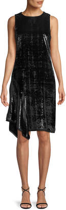 Elie Tahari Serenity Metallic Sleeveless Dress