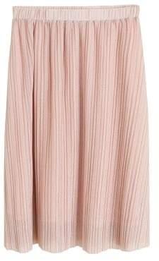 MANGO Pleated metal thread skirt