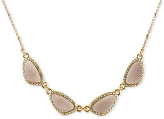 Rachel Roy Gold-Tone Blue Stone Necklace