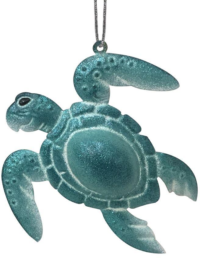 St. Nicholas Square® Metal Bell Turtle Christmas Ornament