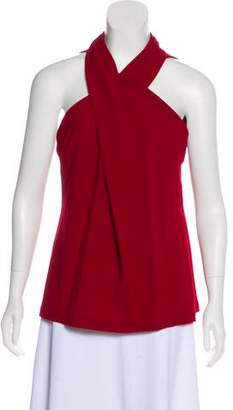 Yigal Azrouel Virgin Wool Crossover Top