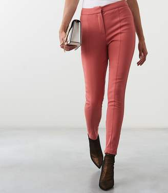 Reiss Arla - Seam Detail Skinny Trousers in Tulip Pink
