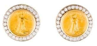American Eagle Diamond Coin Earclips