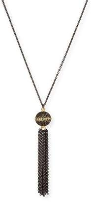 Armenta Old World Pave Diamond Ball Tassel Necklace
