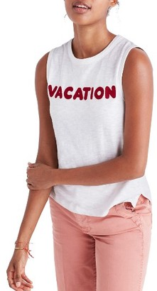 Women's Madewell Vacation Embroidered Tank $32 thestylecure.com