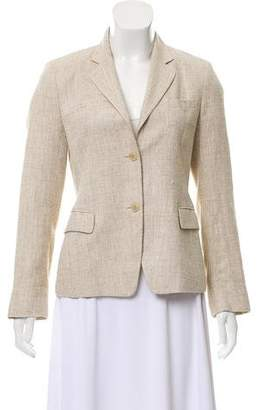 Luciano Barbera Silk-Linen Blend Donegal Knit Blazer
