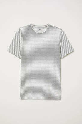 H&M Crew-neck T-shirt Slim fit - White