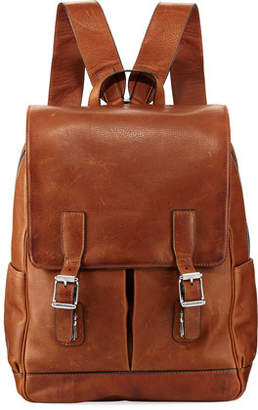 Frye Oliver Leather Buckle Backpack
